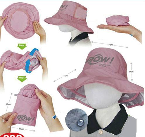 18-A01532000-WJRW-P 廣告波浪寬邊帽(可收納)